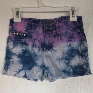 Girls Dyed Denim Jean Shorts